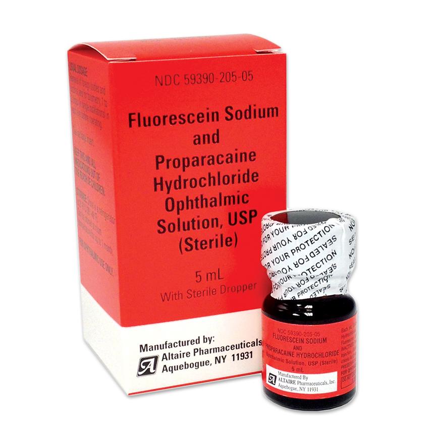 Fluorescein Sodium/Proparacaine Generic Tono Drop (5mL)