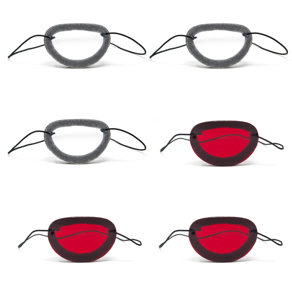 Foam Occluders   (Package of 6)  Includes:  (3) Red and (3) Translucent