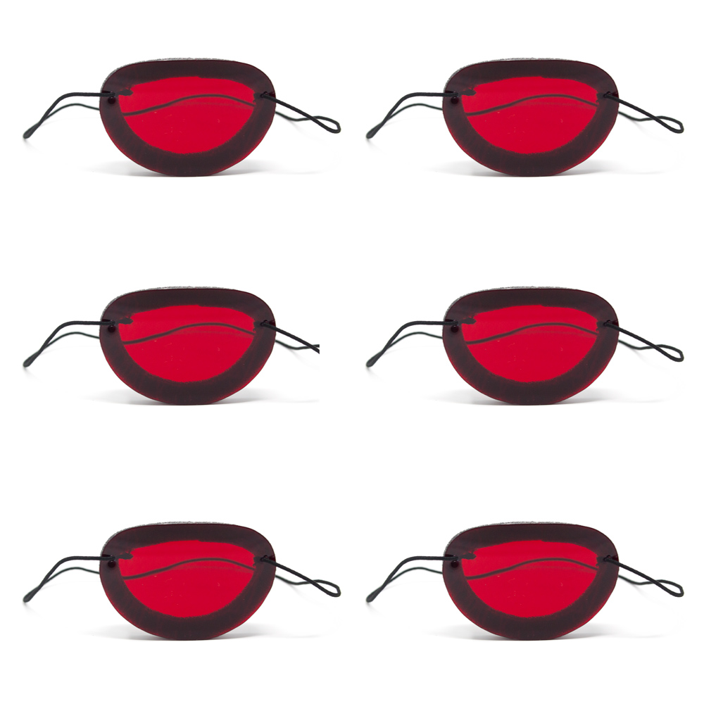Foam Occluders   (Package of 6)   Red Filter