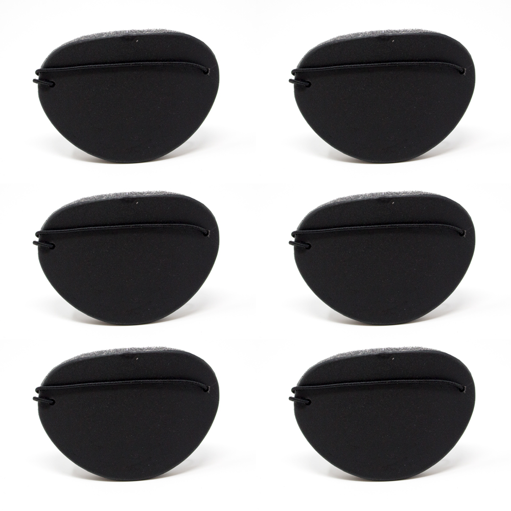 Eye Shields with Foam (Large) - Color: Black (Pkg. of 6)