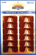 Polarized Blue Glare Guards  Color: Brown Amber  Display Card of 12 (Large)