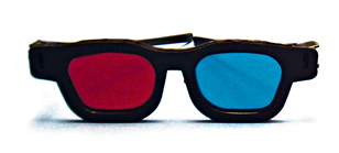 Original Bernell Model Red/Blue Computer Goggles   (Single Pair)