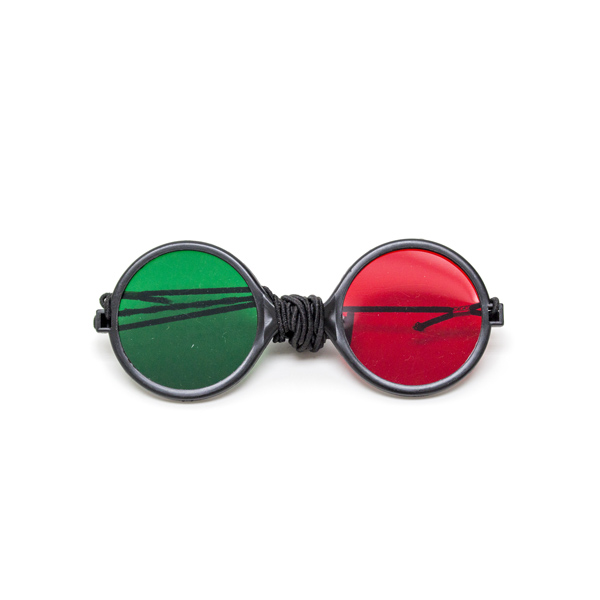  Child Size Red/Green Reversible Goggles   (Single Pair)  with Elastic 