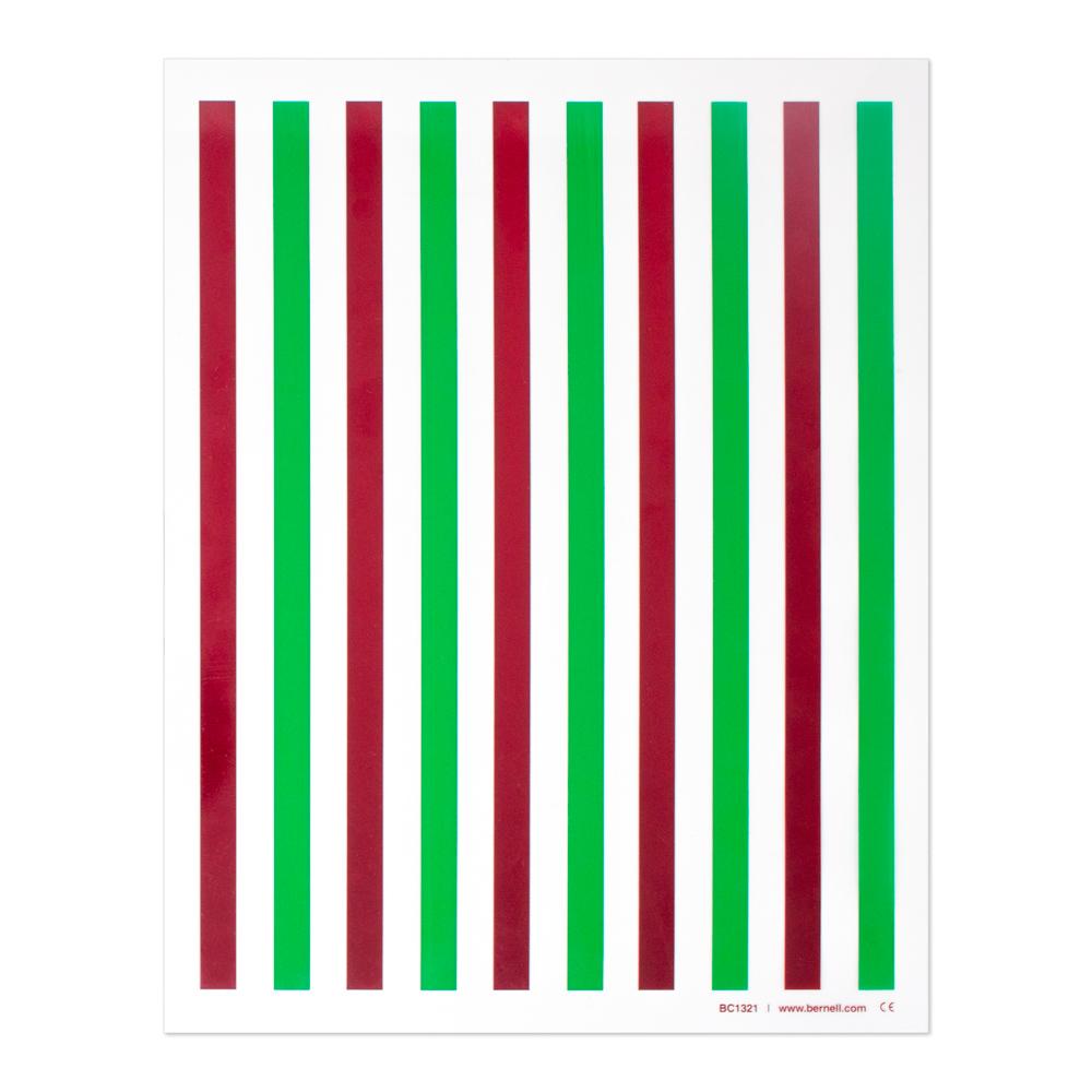 "Red/Green - 8-1/2"" x 11"" | 10 Bars | 0.4"" Bar Width"