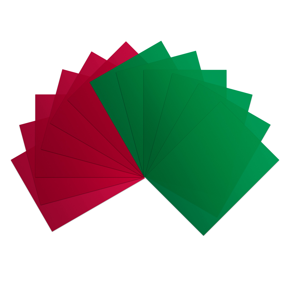 (6) Red & (6) Green Vinyl Sheets