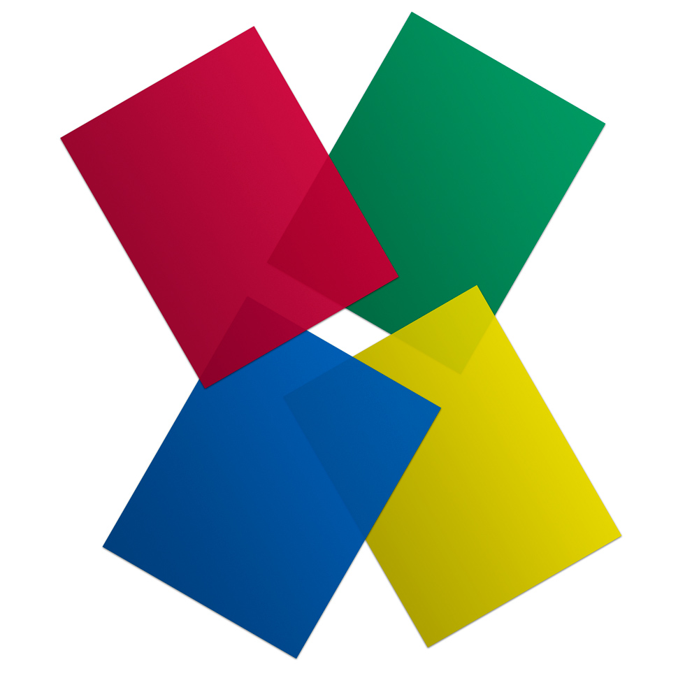Red, Green, Blue and Yellow Vinyl Sheets