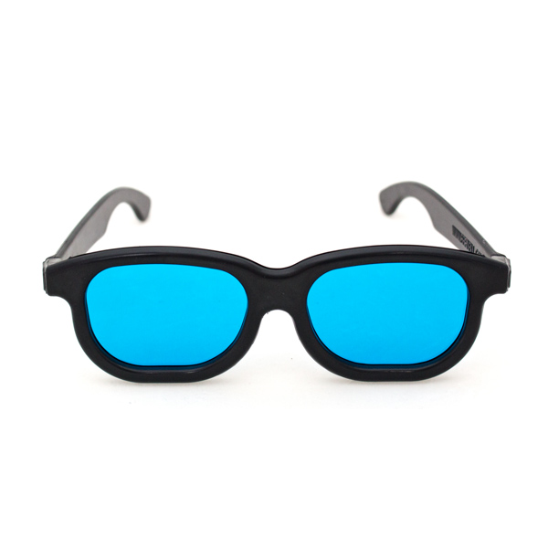 Single Goggle with Blue Filter Lenses