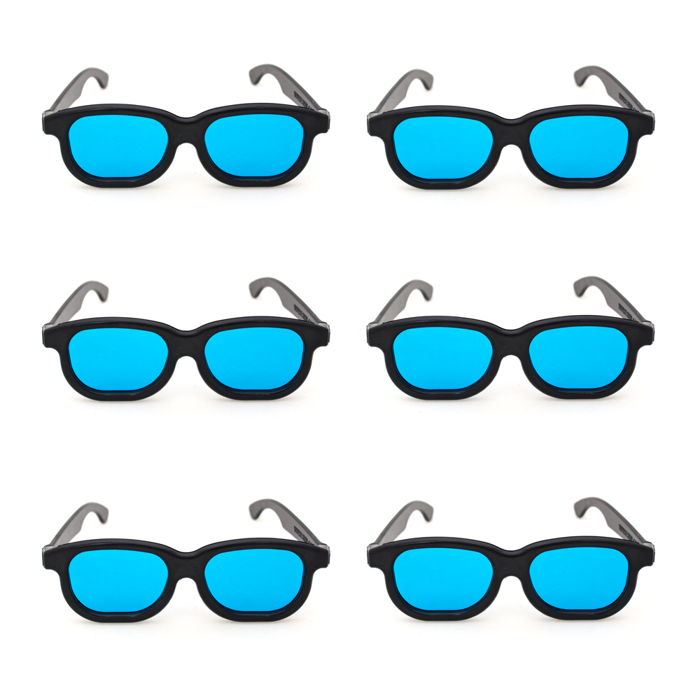 Pkg. of 6 Goggles  with Blue Filter Lenses