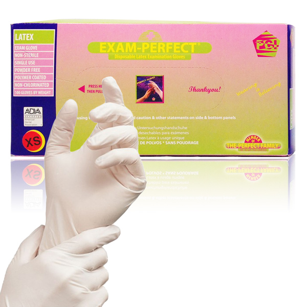 Latex Gloves - Non-Chlorinated; Non-Powdered (Box of 100)