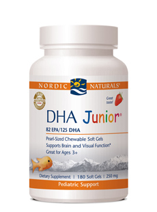 Nordic Naturals DHA® Juniorwith Strawberry Flavor(180 Soft Gels)Save 15% Off MRSPWholesale Pricing Available to Doctors, Please Call
