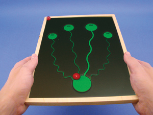 Anti-Suppression  Maze Game   Squiggly Line (Wood Frame)