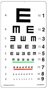 Tumbling E - 20ft Test Chart
