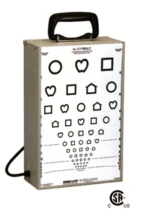 Light Cabinet for Acuity Charts