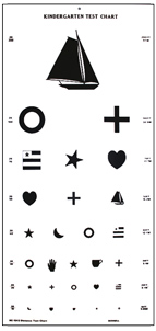 Large Kindergarten Vision Test Chart