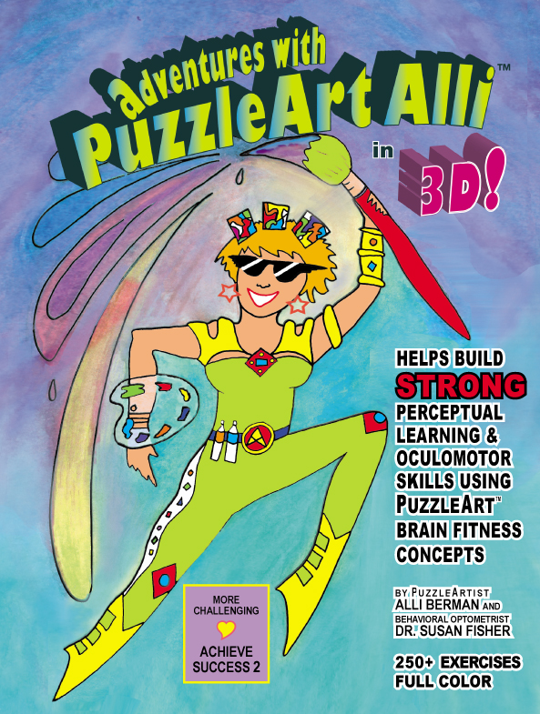 PuzzleArt Activity Book 6+ 64 pages in Full Color 3-D Glasses Included