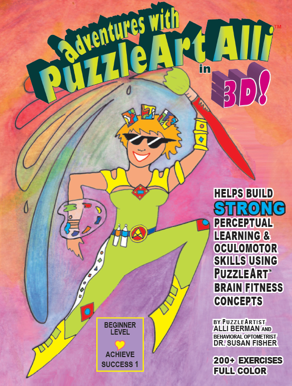 PuzzleArt Activity Book 4+ 56 pages in Full Color 3-D Glasses Included