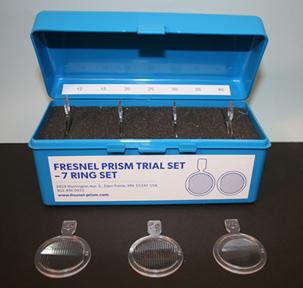 Fresnel Prism Trial Set - 7 Ring Set (12PD-40PD)