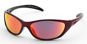 Body Specs Lynx Sunglasses Extreme Series (Crystal Red Frame)