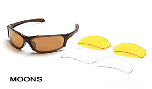 Body Specs Moons Sunglasses (Metallic Brown)