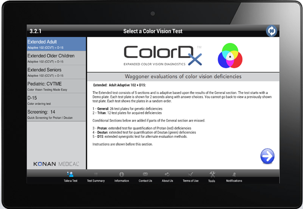 ColorDx: Android Tablet Color Vision Testing System