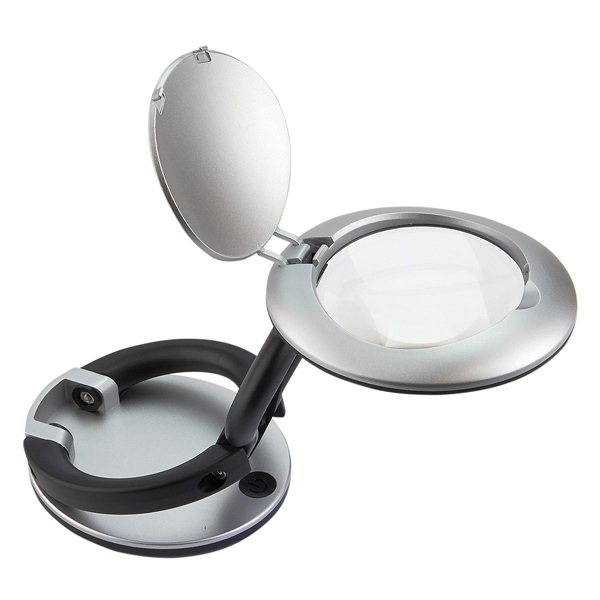 LED Illuminated Folding Magnifier 3X