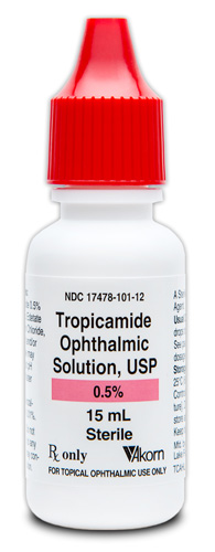 Tropicamide 0.5% (15mL) Bottle