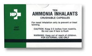 Crushable Ammonia Inhalant Capsules (Qty of 10)