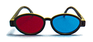 Modern Model Red/Blue Computer Goggles - Modern Model Red/Blue Computer Goggles(Package of 6)