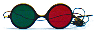 Child Size - Red/Green Reversible Goggles with Elastic (Pkg. of 6)