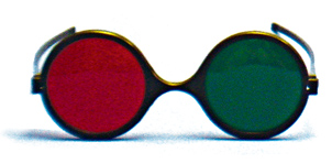 Child Size - Red/Green Reversible Goggles (Single Pair)