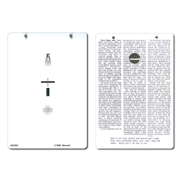 Fixation Disparity Card & Goggles