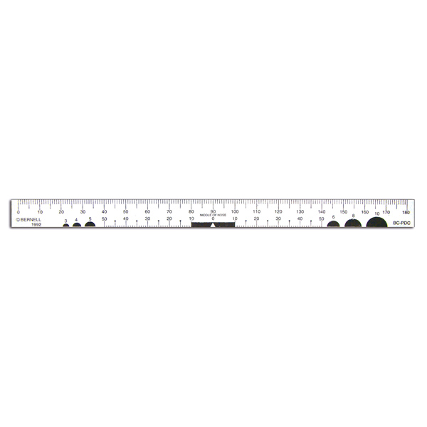 "Clear Plastic Ruler (7"" Long; 2mm Scale)"