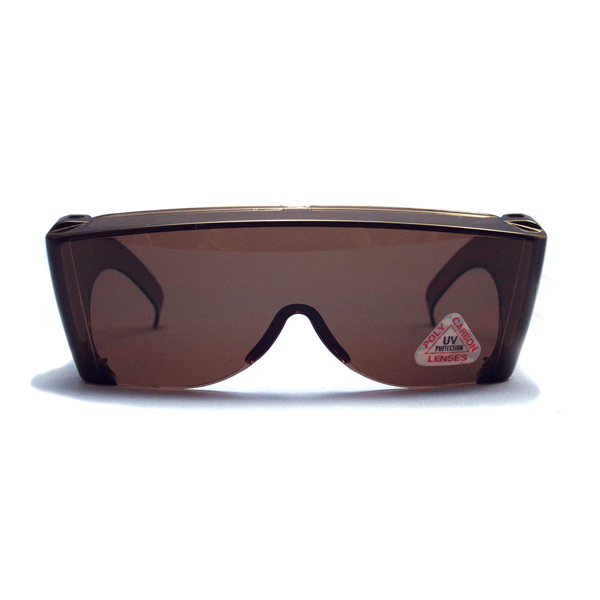 (B) SunWraps Goggles (Regular) - Brown Amber