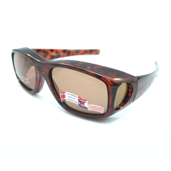 (D) SunWraps Goggles (Polarized) - Brown Amber