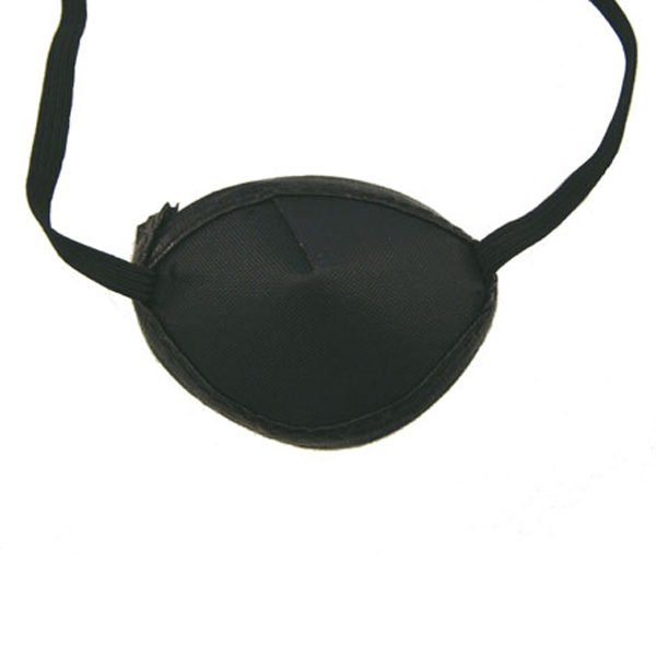 Flat leather eye patch